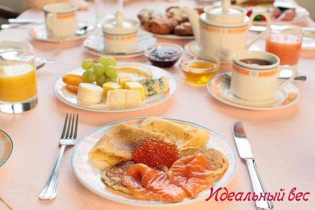 Разнообразие блюд на завтрак