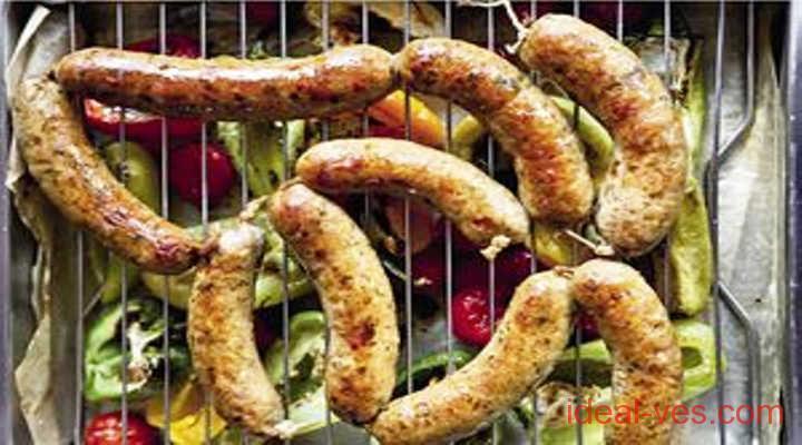 Домашние колбаски в кишке и на мясорубке