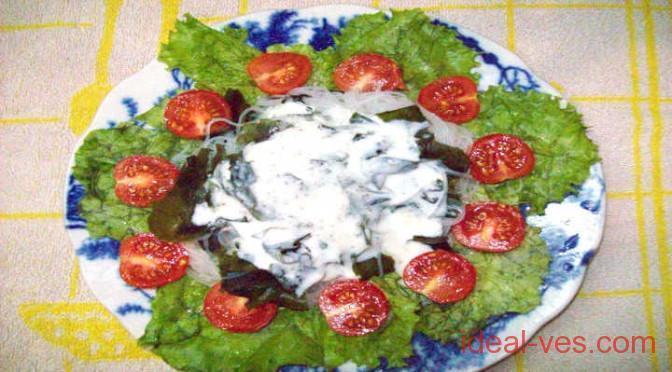 Рисовая лапша с водорослями