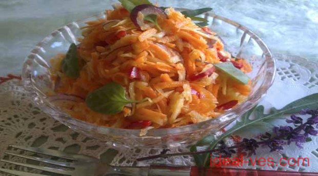 Салат из репы с болгарским перцем и морковью