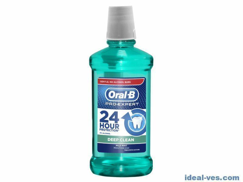 Жидкость для полоскания рта oral-b pro-expert deep clean 500 мл