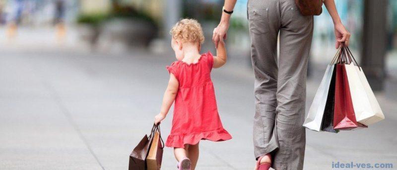 Шопинг с ребенком: советы родителям