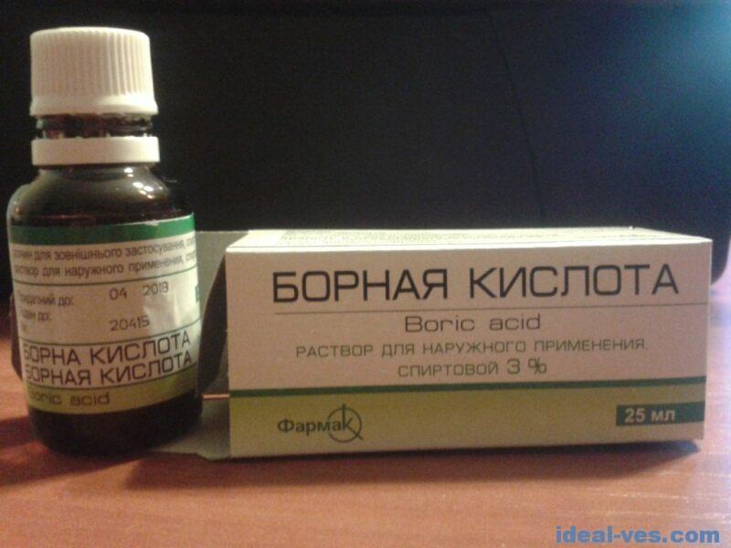 Борная кислота, раствор 3% спиртовой