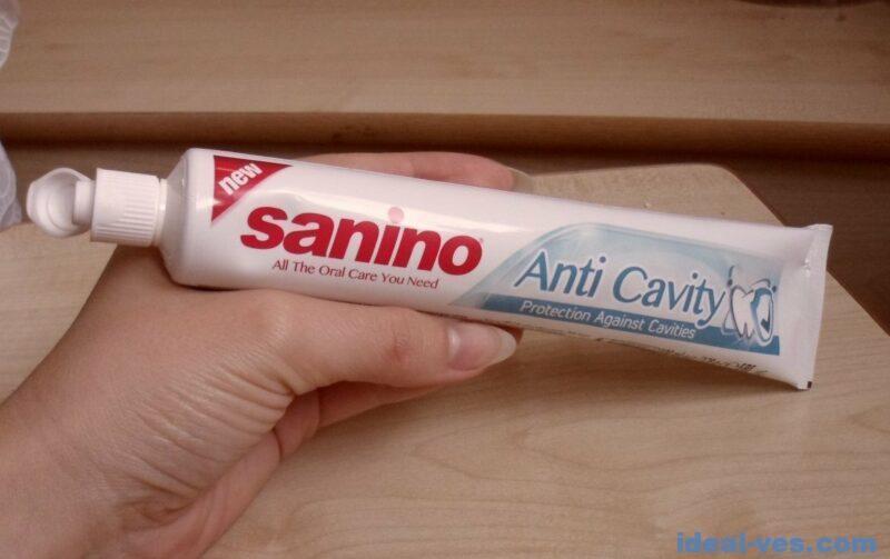 Рецепт лизуна с использованием зубной пасты Sanino Anti Cavity