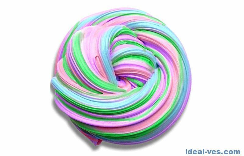 Смешать несколько слаймов разных цветов