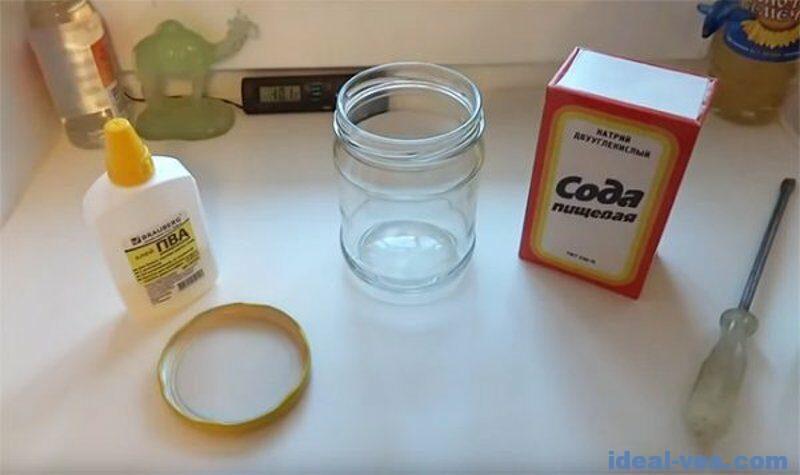 Слайм из клея ПВА без тетрабората натрия