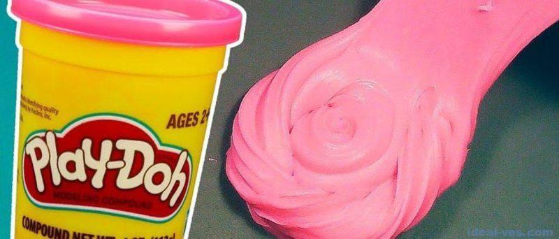 Как сделать слайм из легкого пластилина Play Doh
