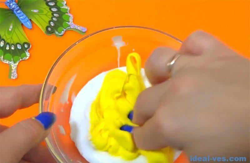 Добавляем Play Doh в слайм
