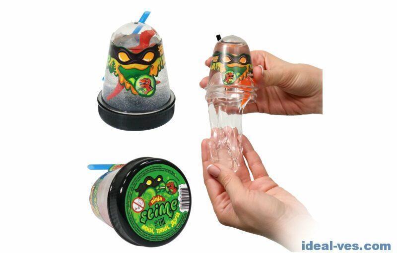 "Лизун Ninja Slime ""Затерянный мир"" - Динозавр, 130 гр."