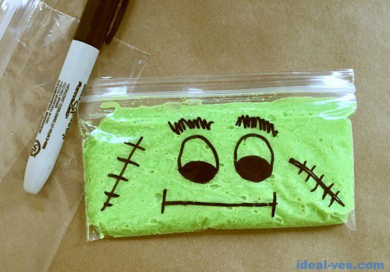 Пакет с zip-застежкой для слайма