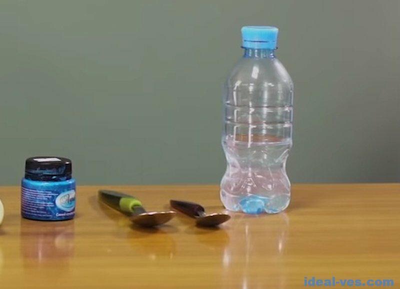 Разводим буру в пластиковой бутылке