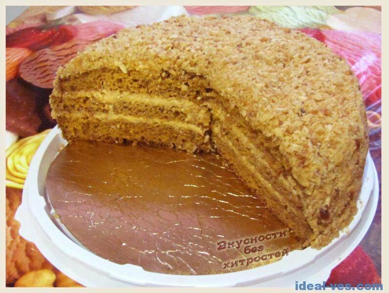 Готовый торт «медовик»