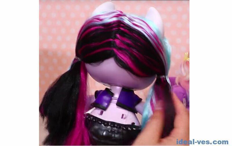 Волосы сзади