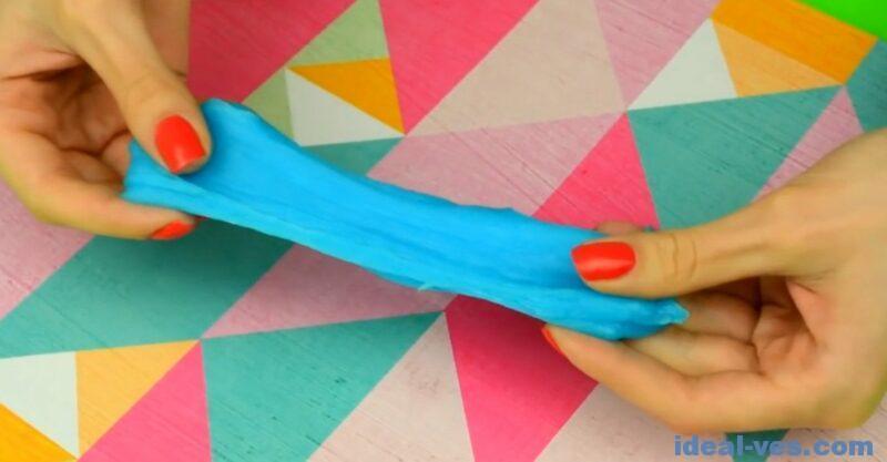 Слайм из клея карандаша и зубной пасты