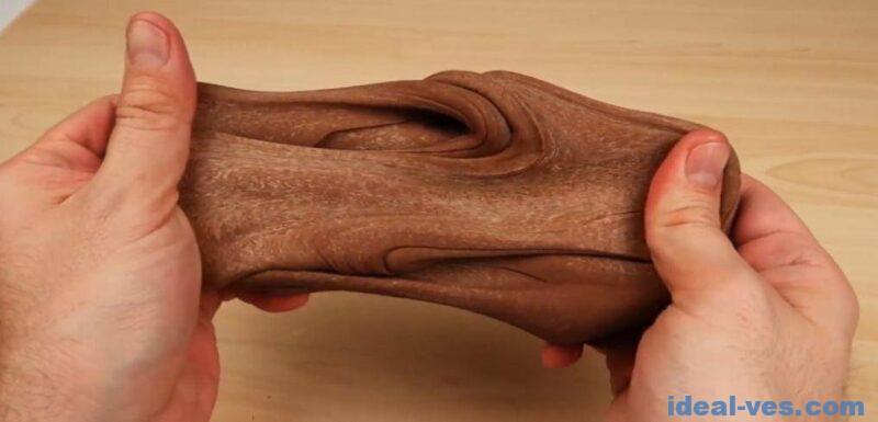 Шоколадно-мраморный лизун