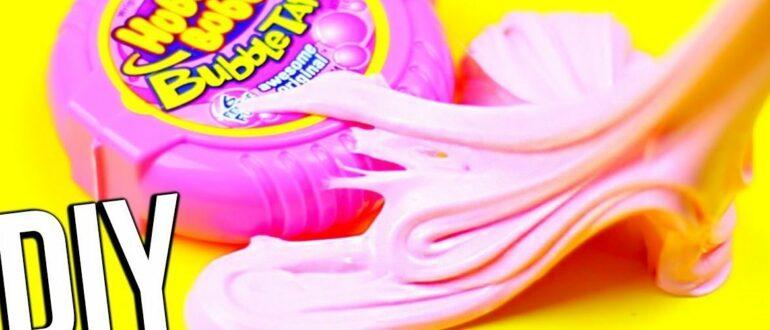 Как сделать слайм из жвачки