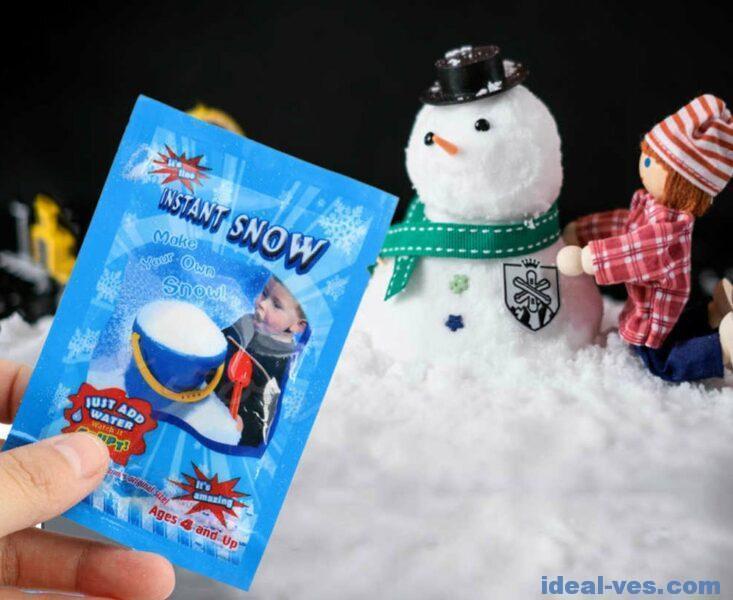 Слайм со снегом из пакетиков