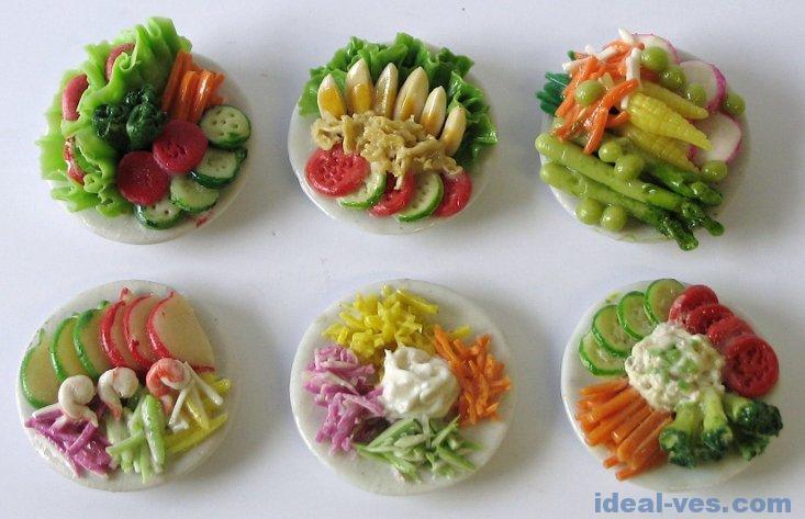Холодные овощные закуски